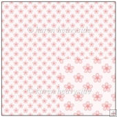 Peach Floral Backing Paper