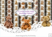 8 Lovely A4 Backing papers of Teddy bears