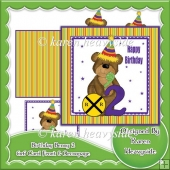 Birthday Benny 2 6x6 Card Front And Decoupage