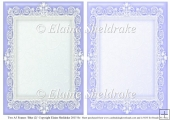 2 x A5 Blue (2) Lace Frames for Card Making & Scrapbooking