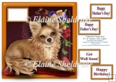 Chihuahua Puppy Dog - Square Card Topper & Assorted Greetings