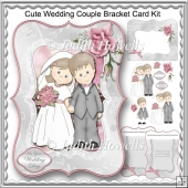 Cute Wedding Couple Bracket Card Kit