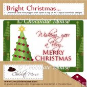 Bright Christmas - Christmas Tree Card Front