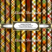 Autumn Plaids Set Two 12 x 12 Backing Papers