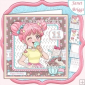 HAVE A NICE DAY 7.5 Decoupage & Insert Card Kit