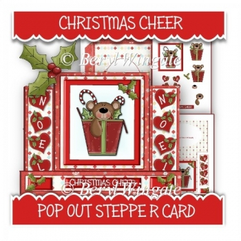 Christmas Cheer Pop Out Stepper Card
