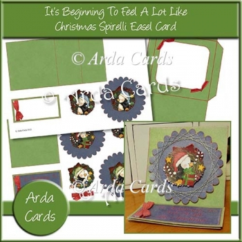 It's Beginning To Feel A Lot Like Christmas Spirelli Easel Card
