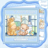 BABY BOY SHELF 8x8 Decoupage & Insert Kit