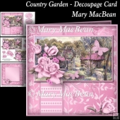 Country Garden - Decoupage Card