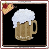 963 Beer Mug Shaped Card Multiple MACHINE Formats