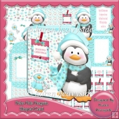 Polar Pals Penguin Shaped Card