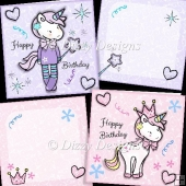 Love Unicorns 2 Card Set