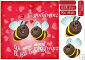 Bee Together Valentines Day 8x8 Quick Card With Insert