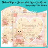 Friendships - Sewn With Love Cardfront with Decoupage