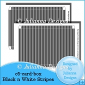 C5 Card Box Black n White Stripes