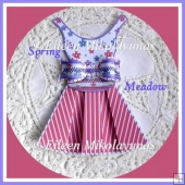 Spring Meadow Dress and Bow Embellishment Set