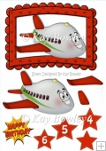 Toony face plane in red frame