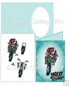 Bikers Motorbike Christmas Card 3d decoupage mini kit