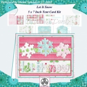 Let It Snow 5 x 7 Inch Decoupage Tent Card Kit - Pink