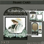 Wonderful Floral Frame Card Girl 4