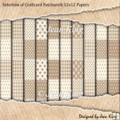 Selection of Craftcard Patchwork 12x12 Papers