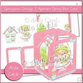 Springtime Cottage 3 Aperture Spring Box Card