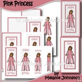 Pink Princess - Birthday Card