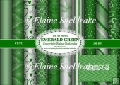 Emerald Green - Ten A4 Backing Papers - Cardmaking, Scrapbooking