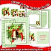 Christmas Bells Foldback Card, Envelope & Backing Paper