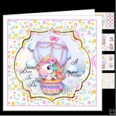 Born To Be A Unicorn Birthday Card Mini kit