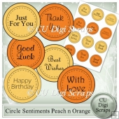 Circle Sentiments Peach n Orange