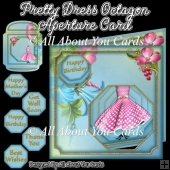 Pretty Dress Octagon Aperture Card