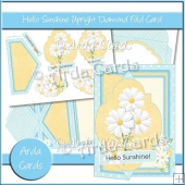 Hello Sunshine Upright Diamond Fold Card