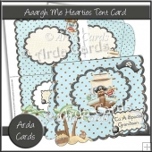 Aaargh Me Hearties Tent Card
