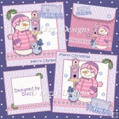 Snow Friends Set of 2 Christmas Cards