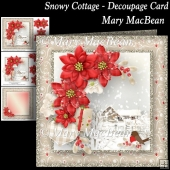 Snowy Cottage - Decoupage Card