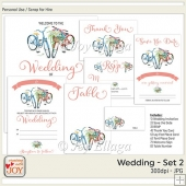 Floral Watercolor Wedding Invitation Set 2