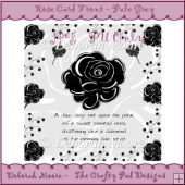 Rose Card Front - Pale Grey