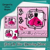 Put On Your Dancing Shoes 6x6 Cardfront