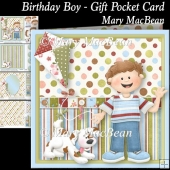 Birthday Boy - Gift Pocket Card