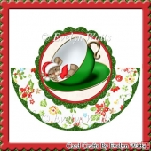Mouse In Teacup Christmas Rocker Card
