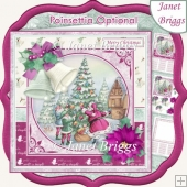 CHRISTMAS BELLS & SANTA 7.5 Decoupage & Insert Kit