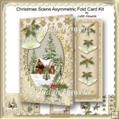 Christmas Scene Asymmetric Fold Card Kit
