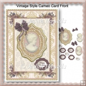 Vintage Style Cameo Card Front
