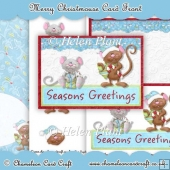 Merry Christmouse A5 Card Front