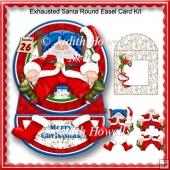 Exhausted Santa Round Easel Card Kit
