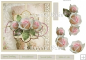Pink roses 7x7 card