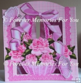 Basket Of Roses Back To Front Card Kit