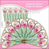 Magnolia Bloom Single Fan Blades