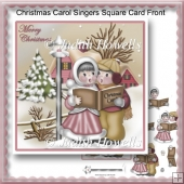 Christmas Carol Singers Square Card Front
